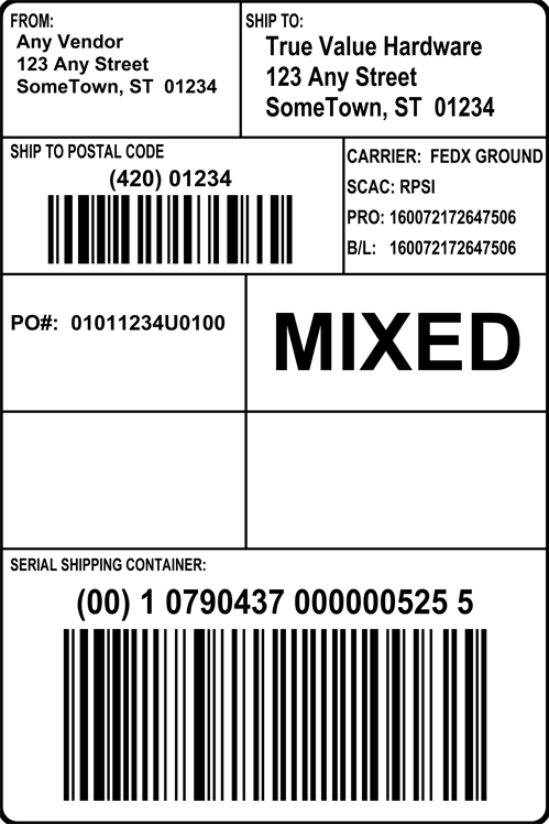 Pallet Label Edi Pictures to Pin PinsDaddy – Shipping Label Format